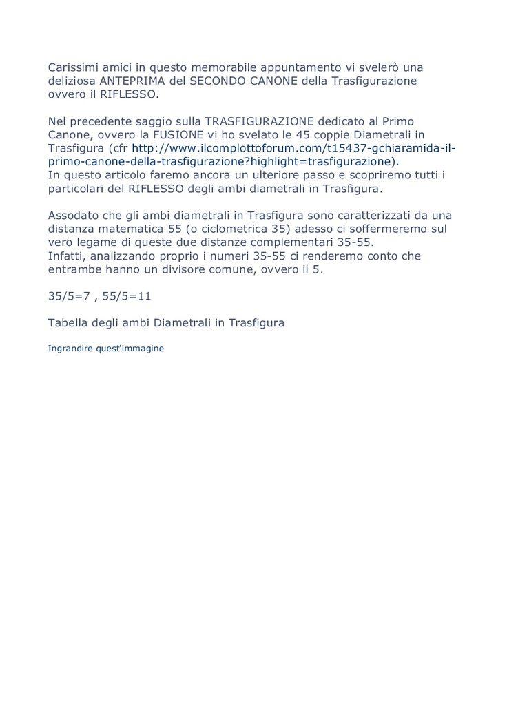GIUSEPPE #CHIARAMIDA - #TRASFIGURAZIONE - #GIOCO DEL #LOTTO  by GIUSEPPE CHIARAMIDA via slideshare