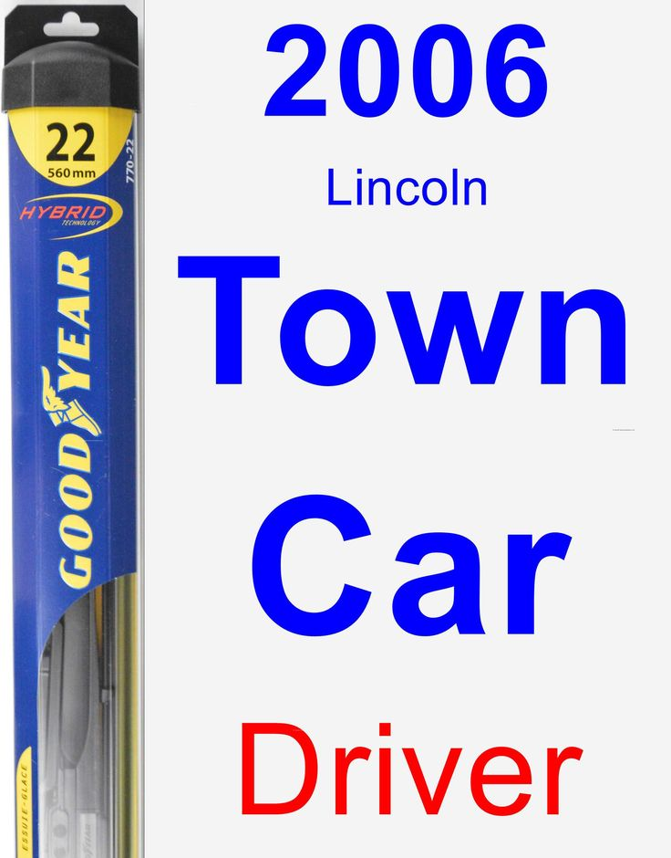 Driver Wiper Blade for 2006 Lincoln Town Car - Hybrid