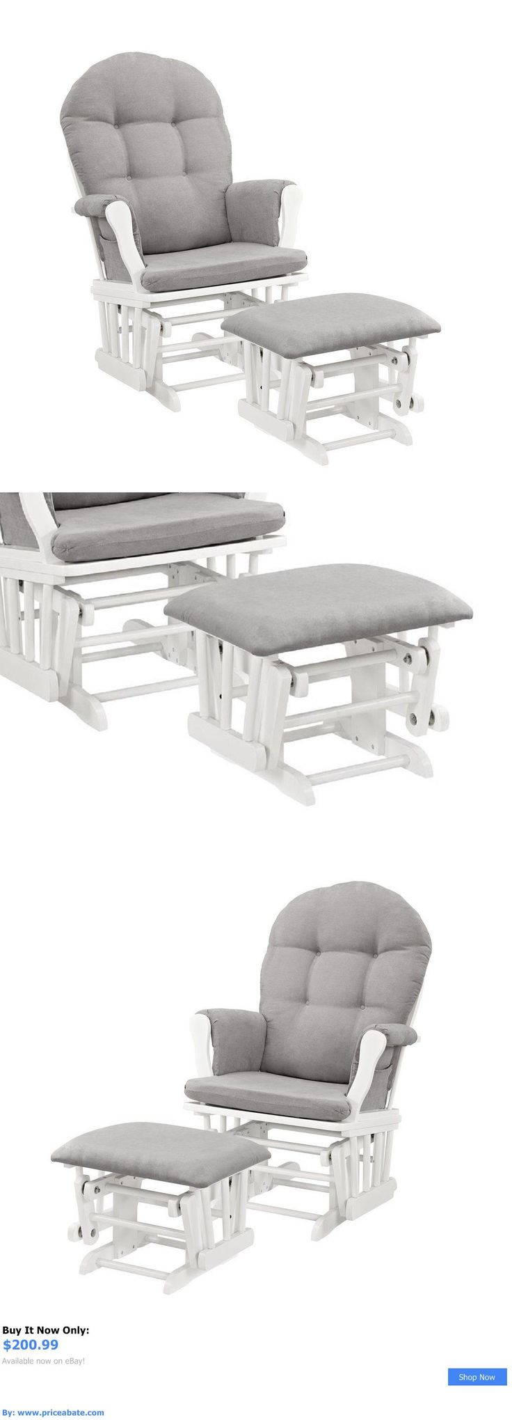baby nursery nursery glider chair ottoman set baby rocker furniture rocking white gray new buy
