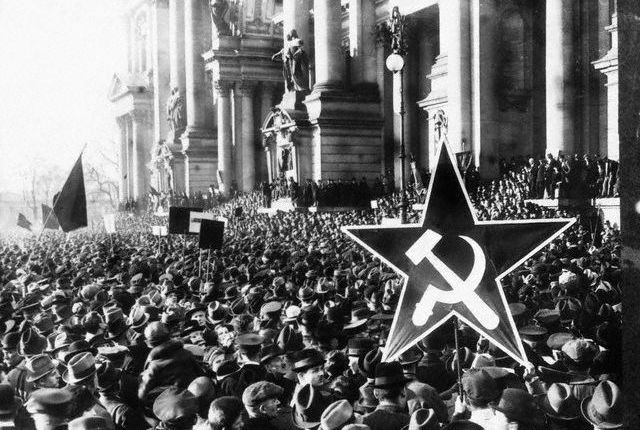 the politically driven civil conflict in the German Empire at the end of World War I, resulted in the replacement of Germany's imperial government with a republic. The revolutionary period lasted from November 1918 until August 1919.