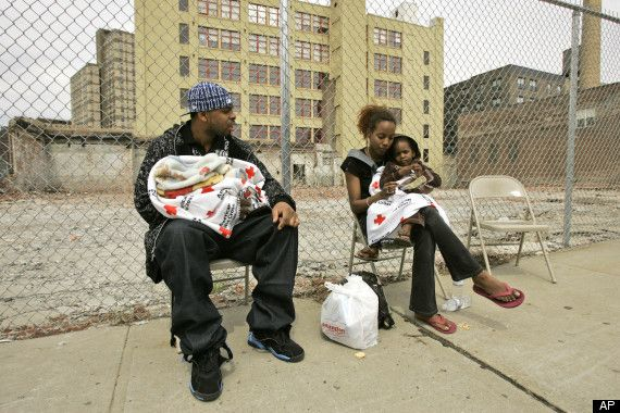 Homeless families in America have increased by 9 percent in 2010.  The race and skin color of this family, the place where they live and the deteriorating economy have obviously contributed to their homelessness.  The question is will they and their kids continue to live in a residual poverty and without a home?
