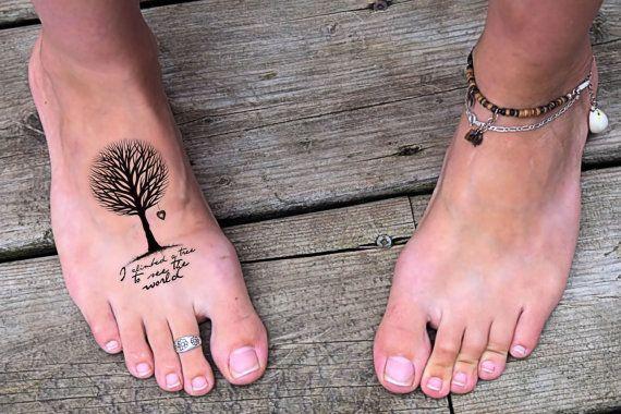Temporary Tattoo Quote  woodland tattoo quote tattoo por Siideways