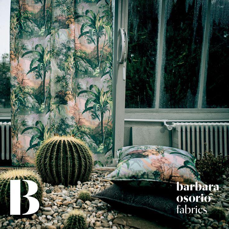 Equador collection 2015 by barbara osorio fabrics - B105 São Tomé printed linen
