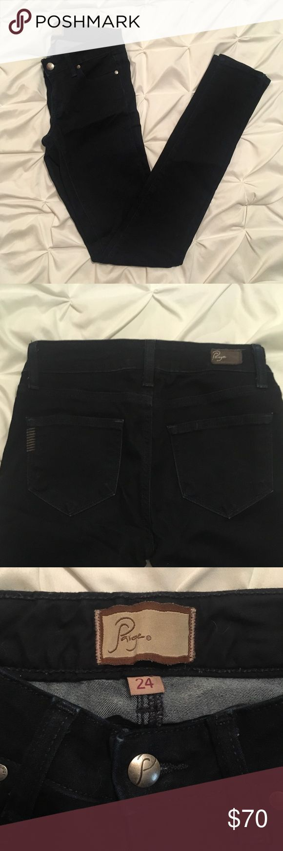 Paige Premium Denim •dark wash• never worn (I was overly confident these would fit me)• size 24 • has a good stretch in them• Paige Jeans Jeans Skinny