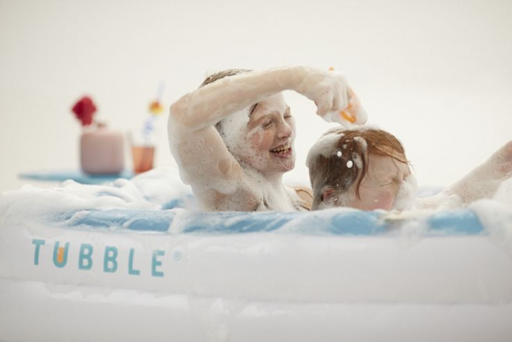 Kids enjoy splashing around in the Tubble - a soft inflatable bath. Put it up in your garden and let them have fun! For more details visit http://tubble.com