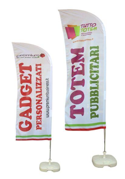 Nuove bandiere 100% poliestere nautico, tripla cucitura e stampa passante in quadricromia . base in plastica o trivella da terreno compresa. OTTIMO STRUMENTO PUBBLICITARIO DA ESTERNO.