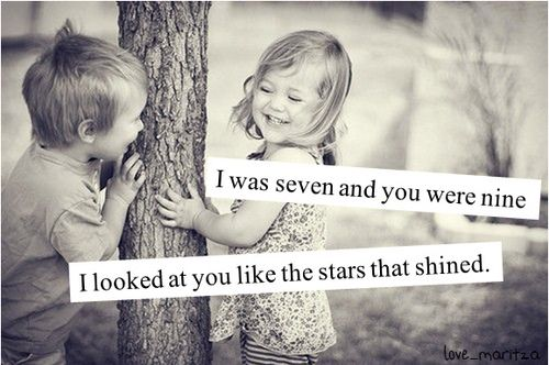 When I'm 87, you'll be 89 and I'll STILL look at you like the stars that shine :)