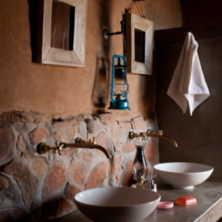 Farm style bathroom. Tankwa National Park, South Africa.