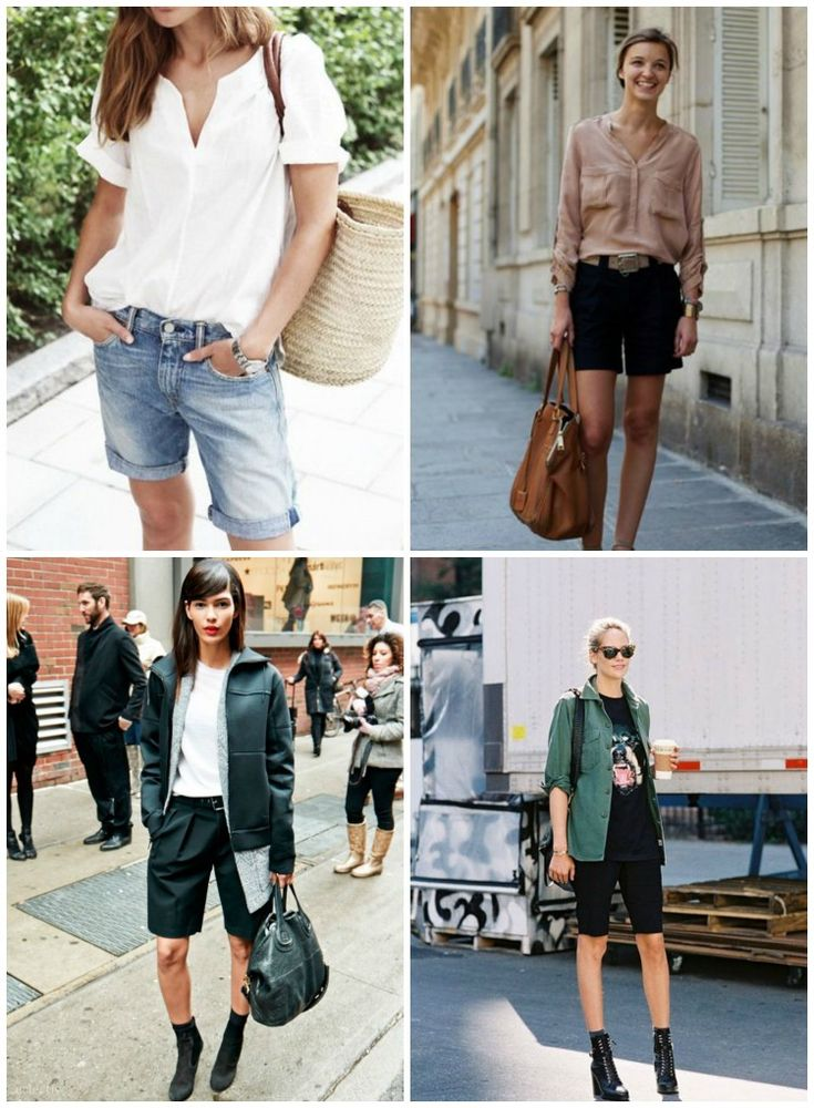 inspiration: knee length shorts