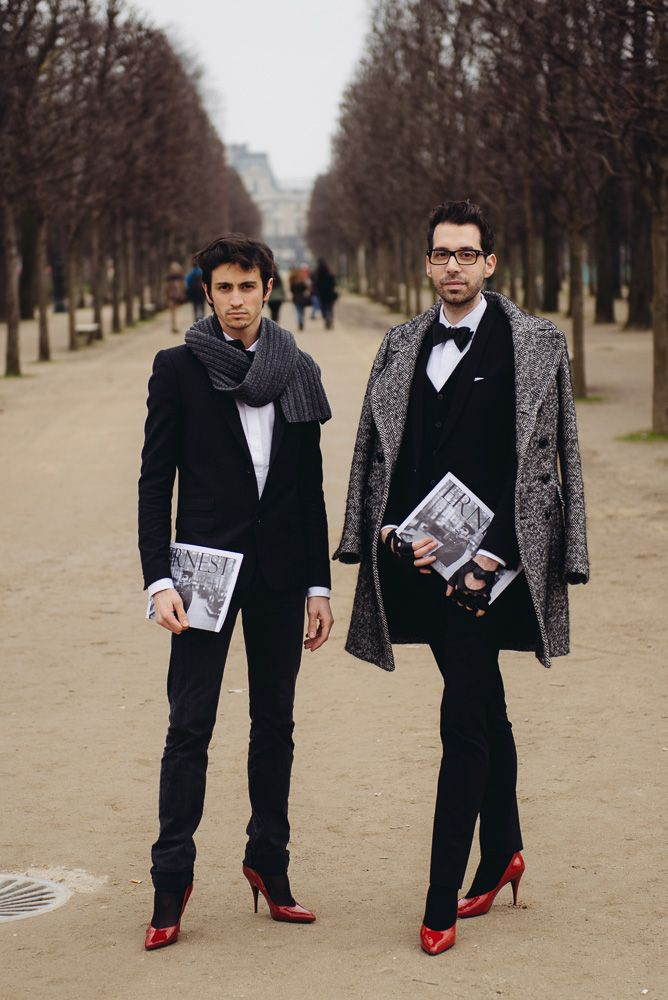 Well, this explains the weird clothes they design.  viktor & rolf paris fashion week  www.fashion.net