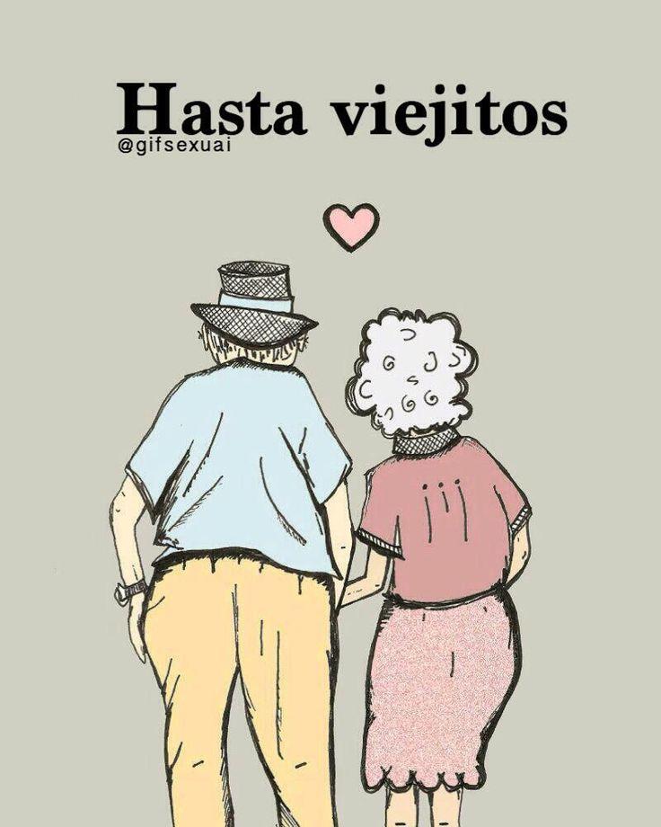 Hasta viejitos #pareja #love #grandparents #pinterest #twitter #perfect