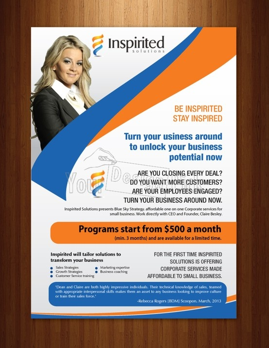 "Brochure Designs for ""Inspired Solutions"" from yourdesignpick.com"