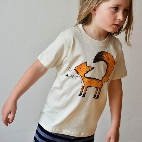 Franzi Fuchs T-shirt bio 86-116 natur Cmig von Cmig - Schwedisches Design aus Hannover        auf DaWanda.com