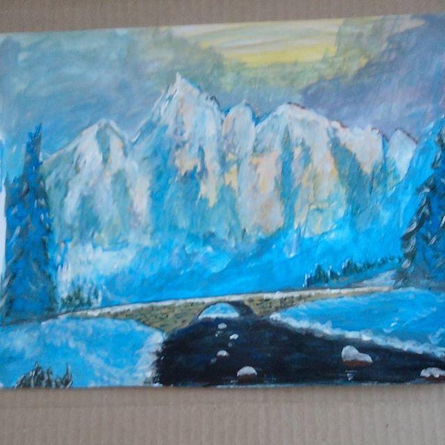 Зима в горах с Рев якиным