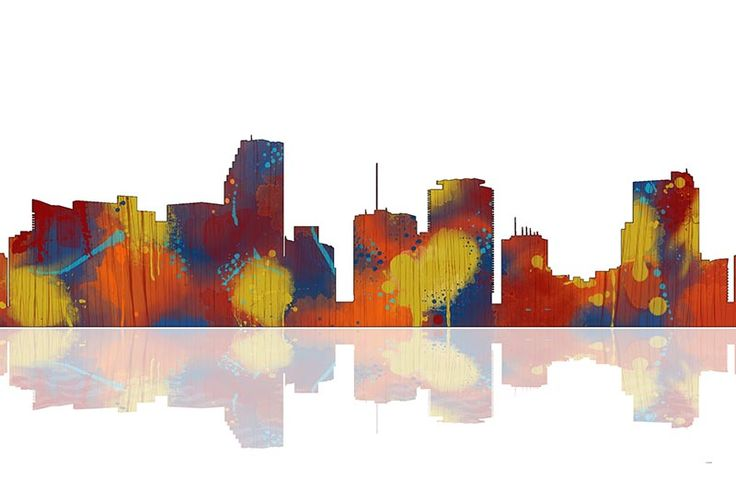 Miami Florida Skyline - Prints from 37.00 in stock