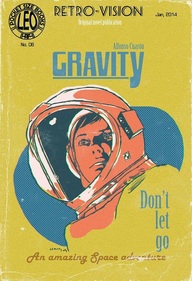 Retro movie poster for Gravity | Abduzeedo Daily Inspiration #1708