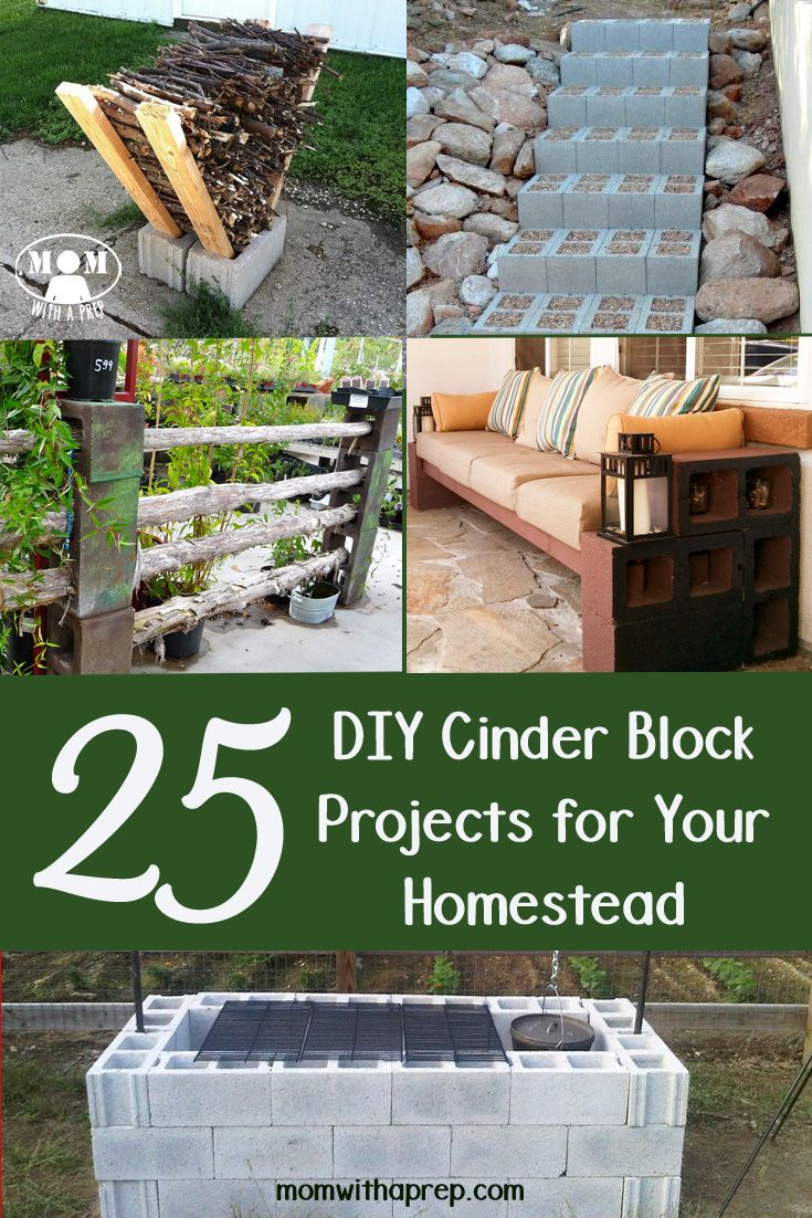 25  DIY Cinder Block Projects for Your Home @ Momwithaprep.com: #bunkerplans