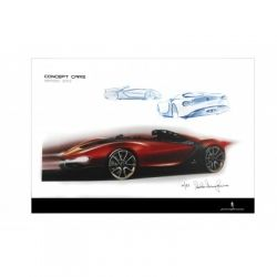Pininfarina Sergio concept car signed print | Car Gifts, Motoring Gifts and Merchandise | Gearbox Gifts