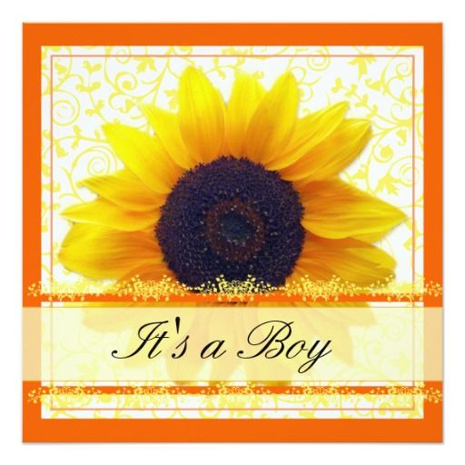 441 best sunflower baby shower invitations images on pinterest, Baby shower invitations