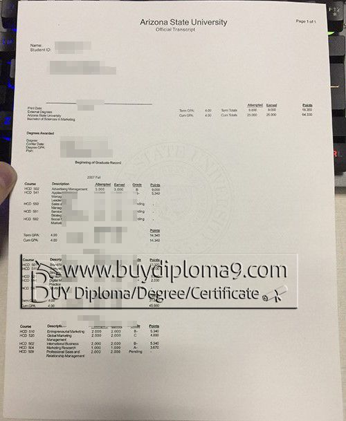 Arizonna state transcript  Buy diploma, buy college diploma,buy university diploma,buy high school diploma.Our company focus on fake high school diploma, fake college diploma university diploma, fake associate degree, fake bachelor degree, fake doctorate degree and so on.  There are our contacts below: Skype: +8617082892425 Email: buydiploma@yahoo.com QQ: 751561677 Cell, what's app, wechat:+86 17082892425 Website: www.buydiploma9.com