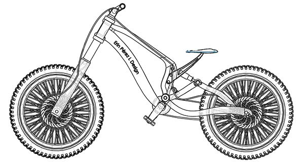 """Bicicleta de descenso"" by Erin PL on Behance"