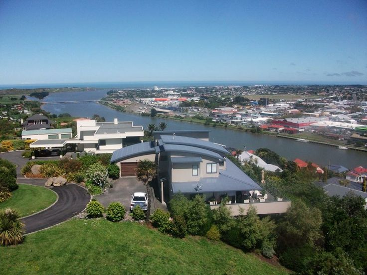 A spectacular view of Whanganui City to the sea from the top of the Durie Hill Elevator.