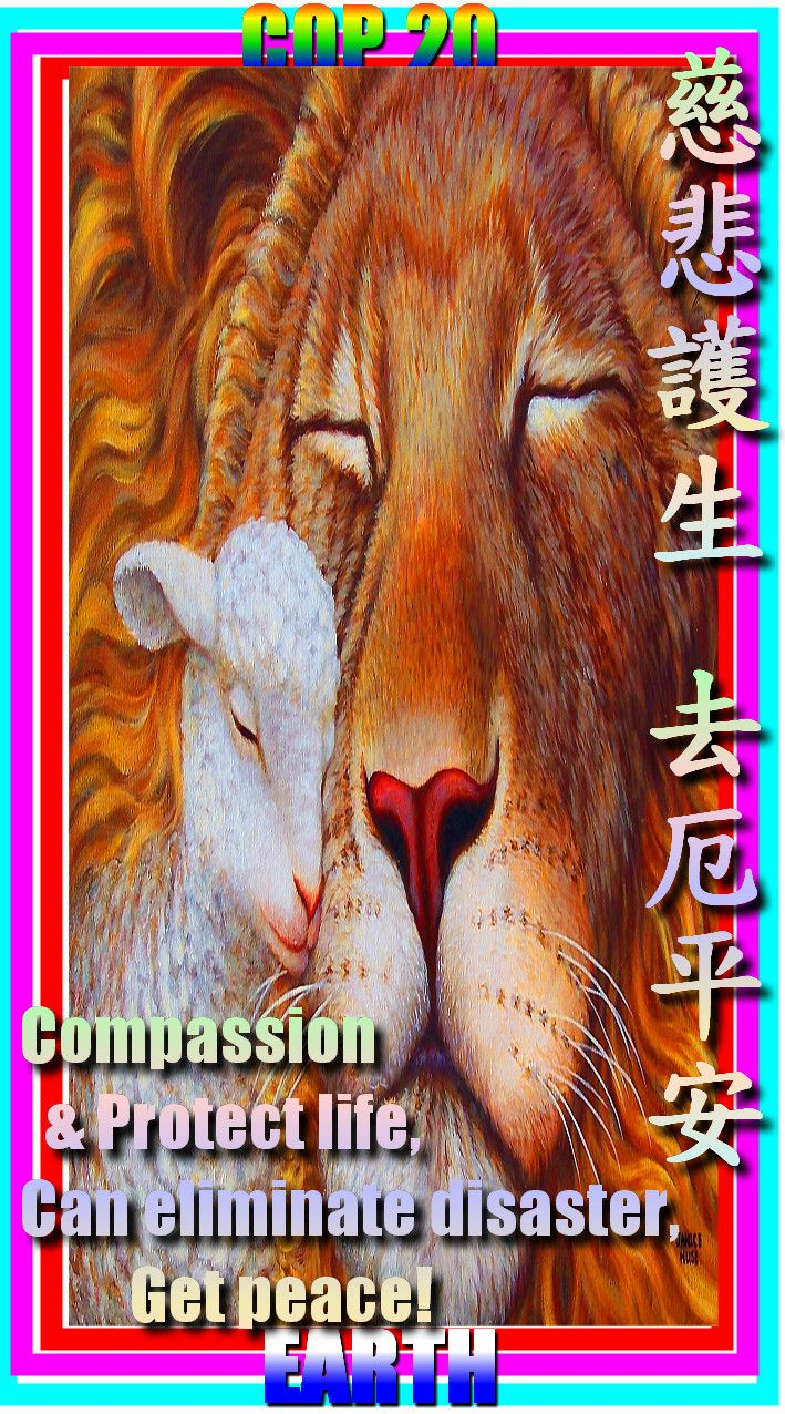 Right now .. Have War, Have Earthquakes, Have Disaster, Please give compassion, Go Vegan, Pray for .. The suffering people and animals!  現在.. 有戰爭, 有地震, 有災禍, 請發慈悲心, 吃純素, 為受苦的人們和動物祈求!