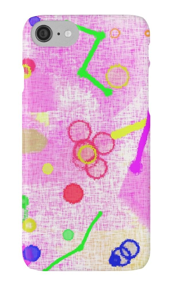 The party is here by Silvia Ganora - #phonecases #iphonecase #galaxycase #abstract #redbubble