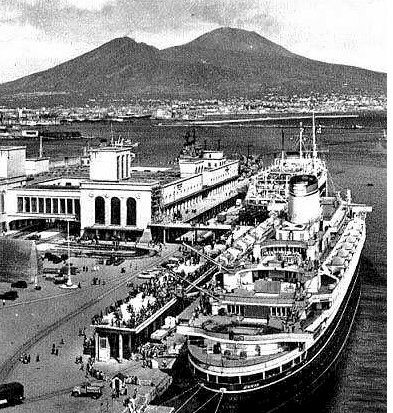 Andrea Doria In Naples on July 18th, 1956.