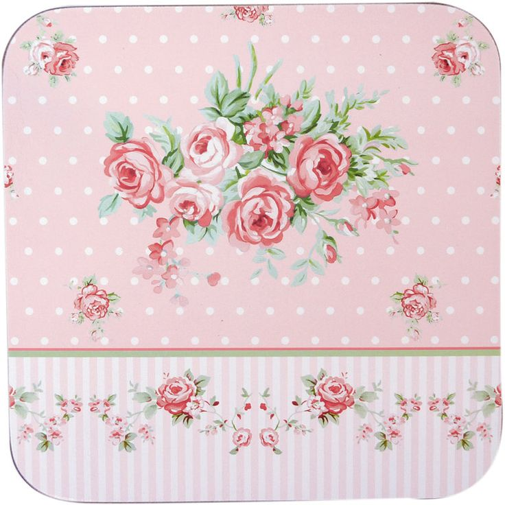 SET 4 SOTTOBICCH. ROSE  - ANGELICA HOME&COUNTRY euro 4,40