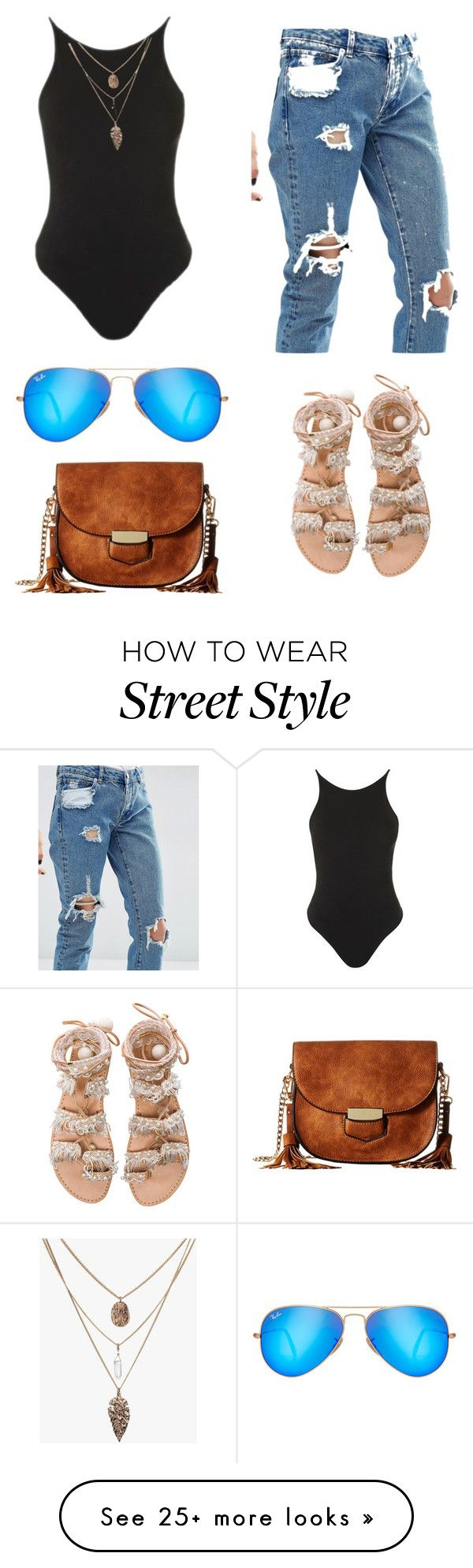 """Street style"" by erinjanae24 on Polyvore featuring ASOS, Topshop, Ray-Ban, Elina Linardaki and Gabriella Rocha"