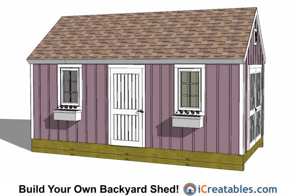 10x20 Colonial Shed Plan