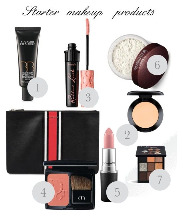 Untitled #44 by wearitblack on Polyvore featuring polyvore, beauty, Christian Dior, Huda Beauty, Benefit, Laura Mercier, MAC Cosmetics and Givenchy