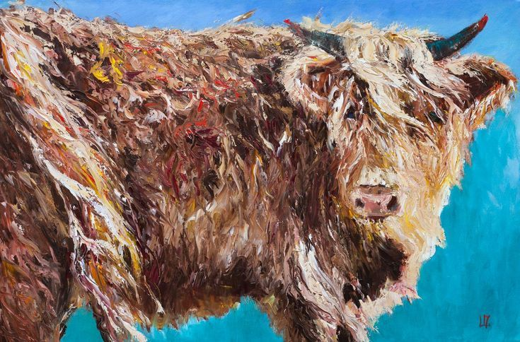 Buy Highland Cow, Oil painting by Liudmila Pisliakova on Artfinder. Discover thousands of other original paintings, prints, sculptures and photography from independent artists.