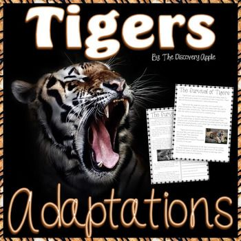 A combo of science and language arts in one unit! Test your students reading comprehension and learn about the wild tiger at the same time! They will understand how the behavioral and physical features of a tiger helps it to survive. You can use these pages as review, homework, group work, and even include them in science centers!Answer key is included.If you like this unit, you might also love:Animal Adaptation Pack Weather Unit PackWater Cycle PackSolar System Pack Human Body Systems Pack…