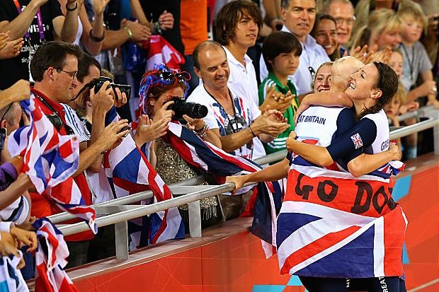 Laura Trott, Joanna Rowsell, and Dani King won gold in the women's team sprint
