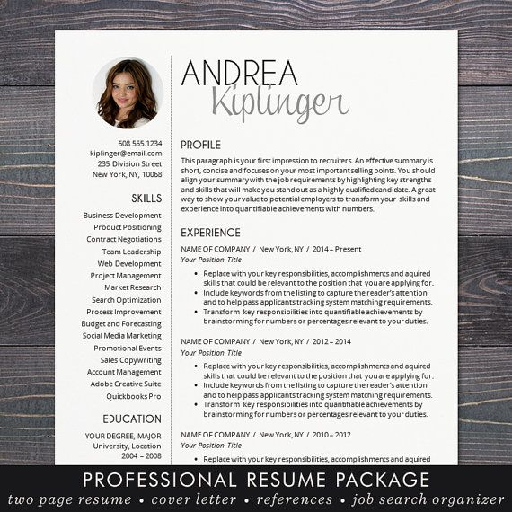 resume template cv template for word mac or pc professional resume design with