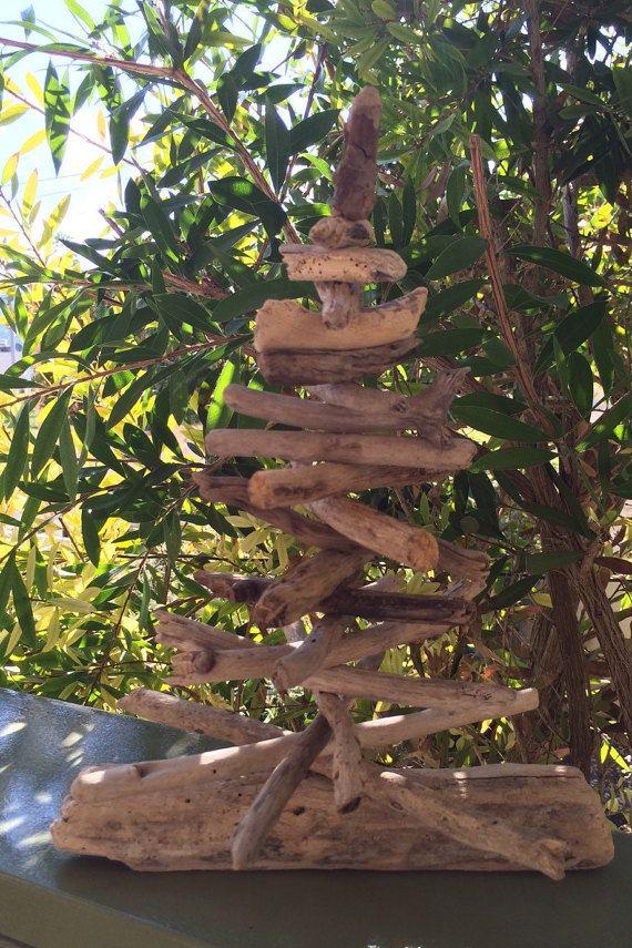 Driftwood Christmas tree eco beach art wooden tree rustic