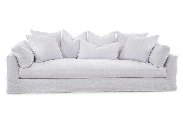 "Banyan 104"" Slipcover Sofa, Snow"