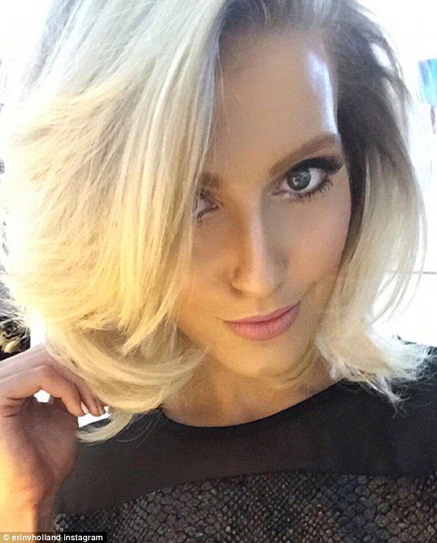 Natural beauty: Erin Holland shared a seductive selfie on Saturday, showing off her model looks in the close-up shot