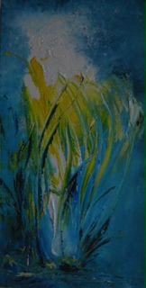 Grasses 1 80x40cms acrylic canvas  Lynne Bishop