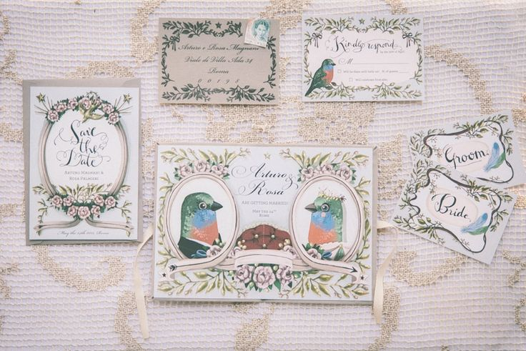 Victorian Bride inspiration in Rome #victorian #birds #rome #shhhmydarling #pink #rome #italy #alessiabaldi  Styling and stationery: @shhhmydarling