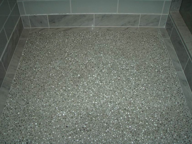 100% Post Consumer Recycled Glass Pebble Tile
