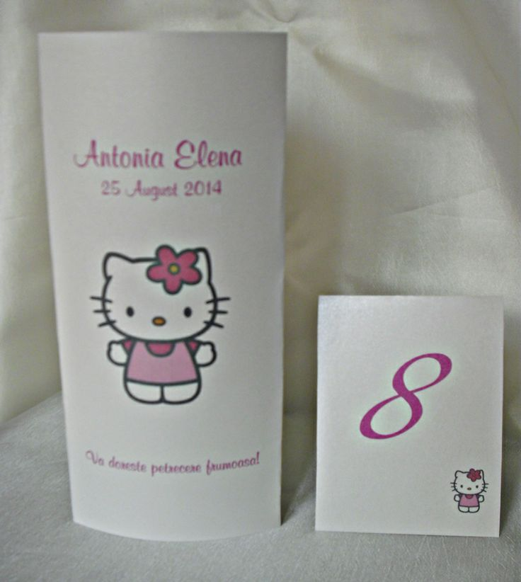 Meniu de botez Hello Kitty - Invitatii Creative