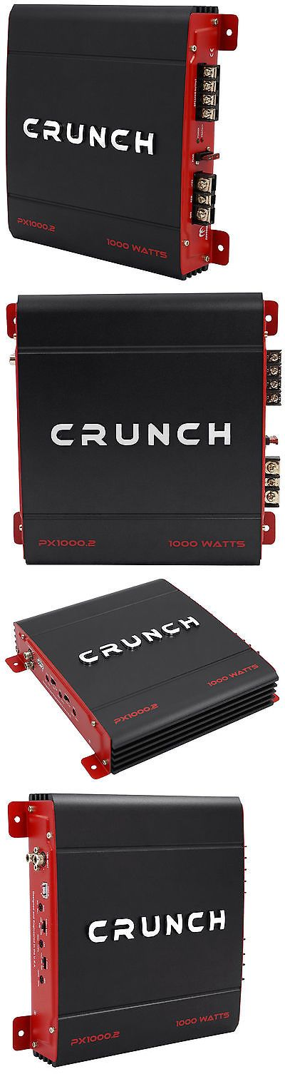 Car Amplifiers: Crunch Px-1000.2 1000 Watt 2 Channel Powerful Car Audio Amplifier Amp Px1000.2 -> BUY IT NOW ONLY: $51.95 on eBay!