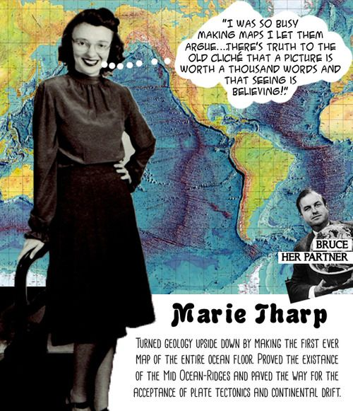 Meet Marie Tharp the controversial geologist who produced the first ever map of the Ocean floor at Women Rock Science