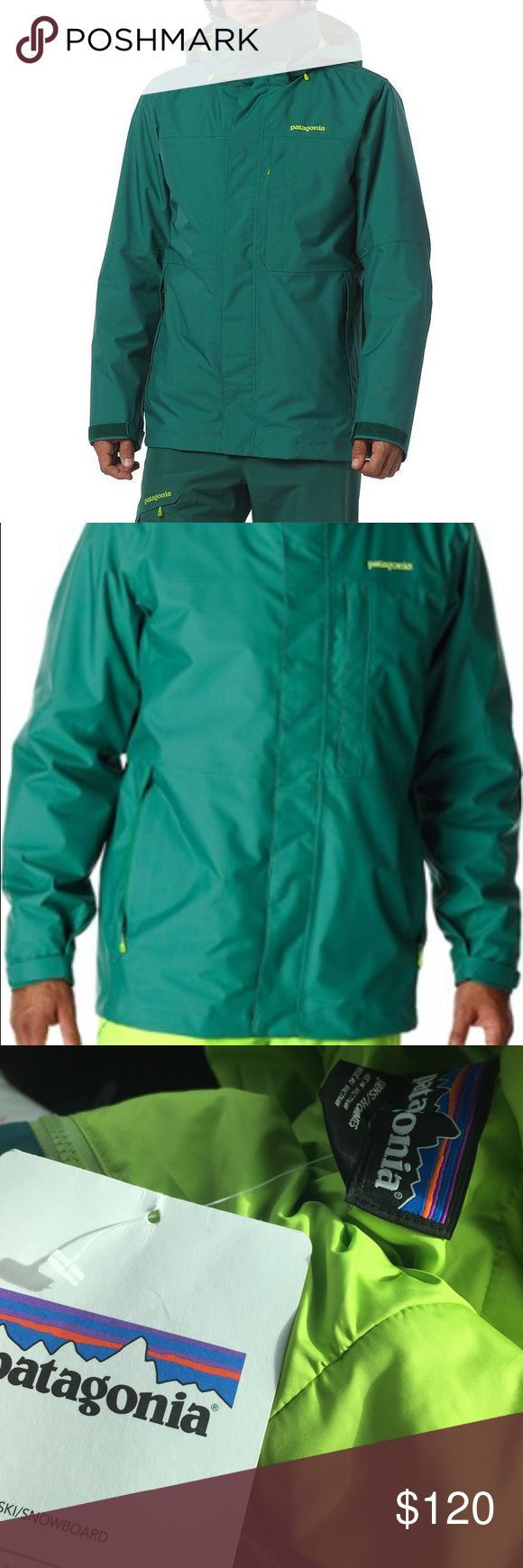 NWT Patagonia Men's Ski Snowboarding Jacket Awesome new with tags Patagonia snowboarding jacket. Arbor green Patagonia with waterproof technology. Size men's small in new condition with tags attached Patagonia Jackets & Coats Ski & Snowboard