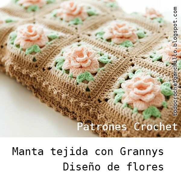 Coverlet patterns crochet flowers with grannys
