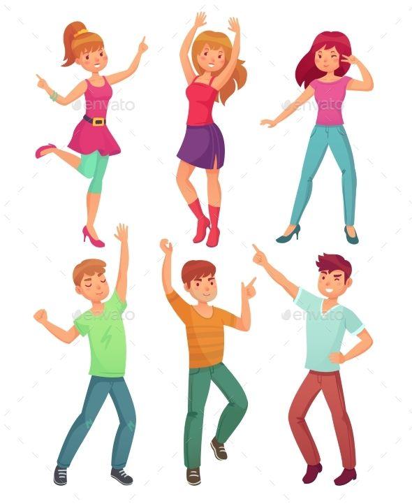 Cartoon People Dance Cartoon People Cartoons Dancing People Dancing