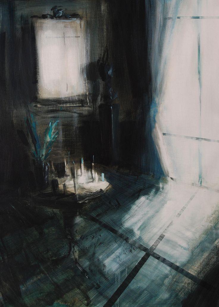'Intima Croce', acrilico su tela, 90x60, 2014.